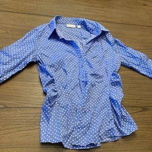 Newyork&company polka dot shirt. Office wear